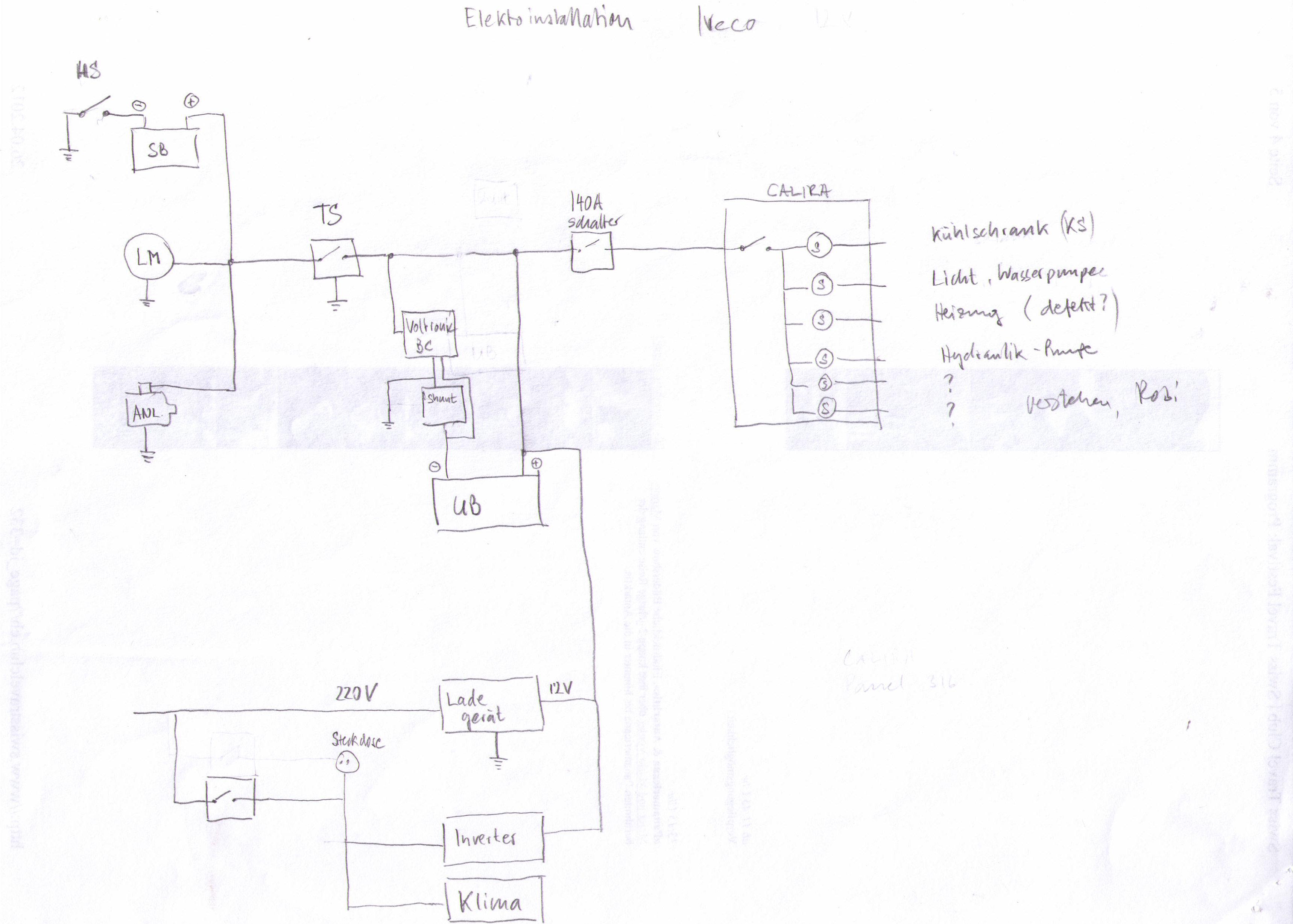 Elektroinstallation Iveco Daily Reisemobil - KFZ-Elektrik - Das ...
