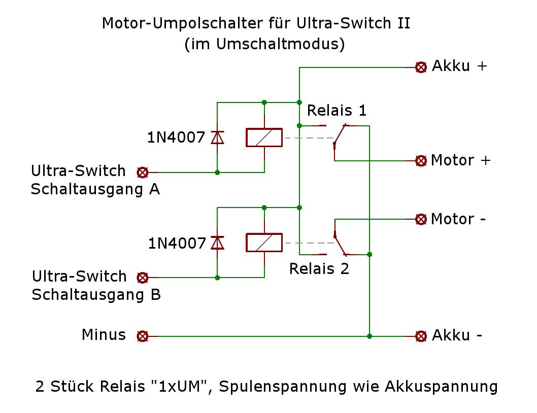 Ultra-Switch II als Motor-Umpolschalter? - RC-Schalter - Das ...