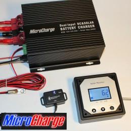 MicroCharge-Ladewandler/Solarladeregler-Kombination 30A mit Zubehör