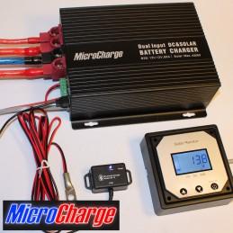 MicroCharge-Ladewandler/Solarladeregler-Kombination 60A mit Zubehör