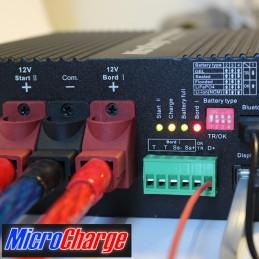 MicroCharge-Ladewandler 12V/30A Gehäusefront