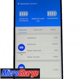 MicroCharge-Ladewandler/Solarladeregler-Kombination 30A Smartfon-App