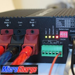 MicroCharge-Ladewandler 12V/60A Gerätefront