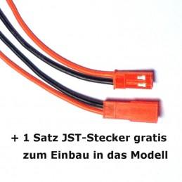 Kostenlos mitgelieferter Satz JST-Stecker zum Einbau ins Modell