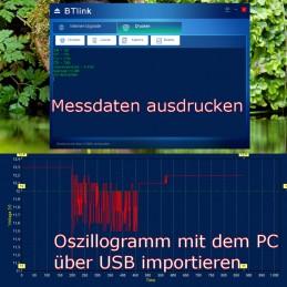 Vielseitige Analysemöglichkeiten über PC-Anschluss über USB, Ausdruck der Messergebnisse uvm.