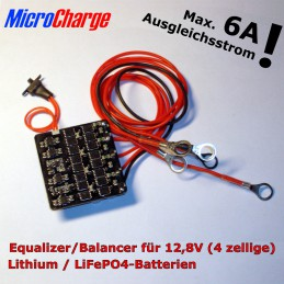 MicroCharge Power-Equalizer für 12V-Lithium-Batterien (4 Zellen)