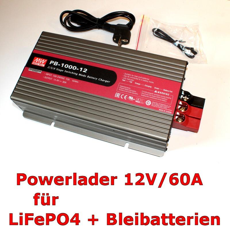 Powerlader 12V/60A für LiFePO4- und Bleibatterien