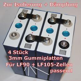 3 Gummiplatten 130 x 195 x 3mm, 1 Platte 1130 x 156 x 3mm.