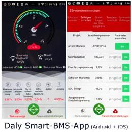 Daly Smartfon-App für Android und iOS