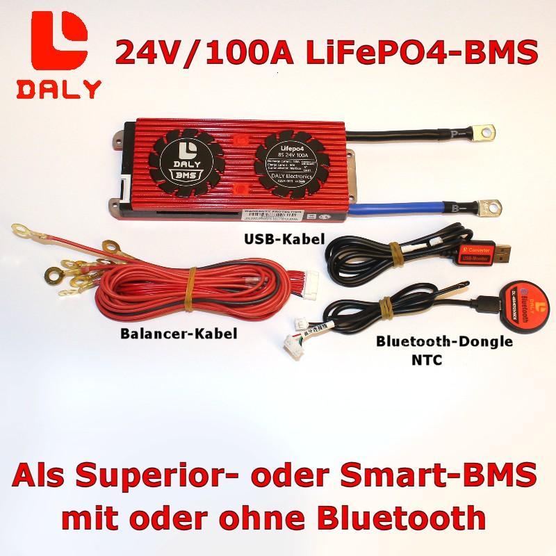 Daly BMS 8S/100A für LiFePO4-Batterien