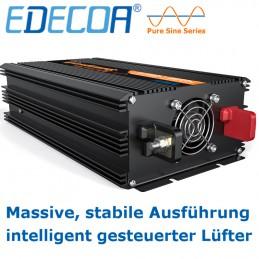 Leiser Lüfter und kräftige Batterieanschlussklemmen sind ein Merkmal der neuen EDECOA-Serie