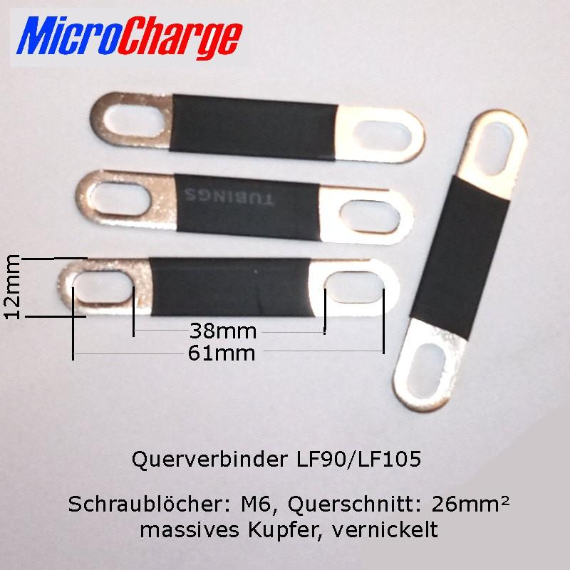 Polverbinder für LF90 und LF105 LiFePO4-Zellen mit 45 bis 56mm Schraubabstand.