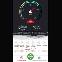 Anzeige und Konfigurationsmöglichkeit aller Betriebsdaten über Smartfon-App (Android + iOS)