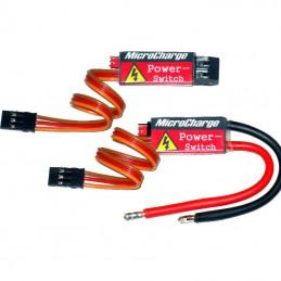 MicroCharge Power-Switch mit Schraubklemmen und mit Anschlusskabeln