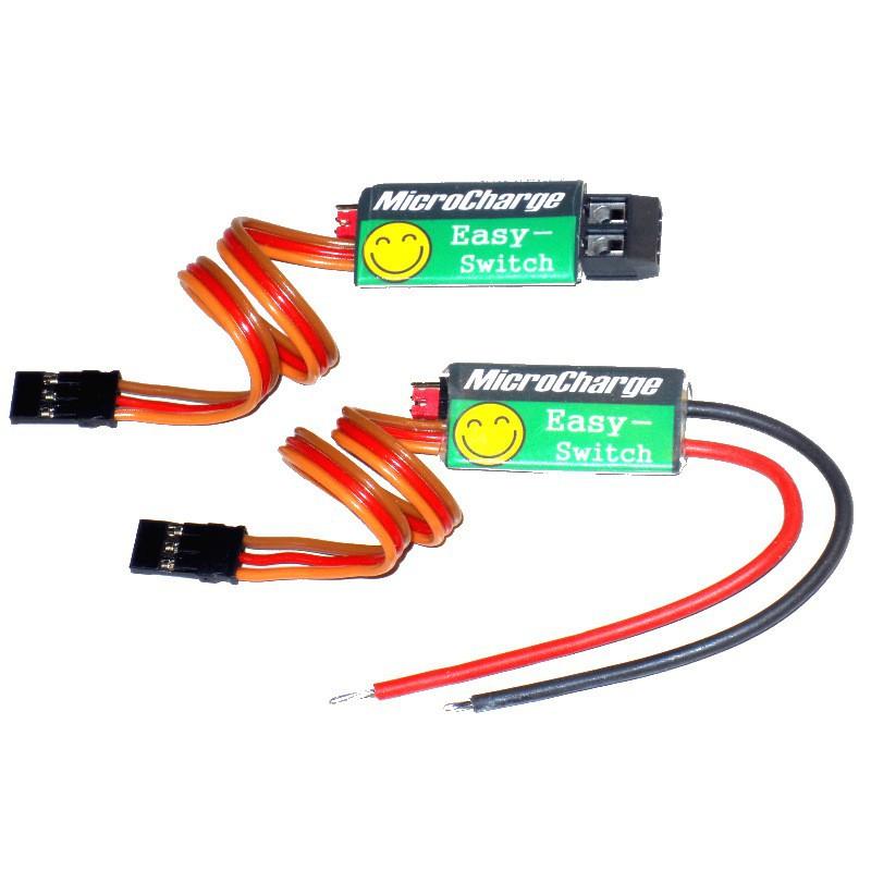 MicroCharge Easy-Switch mit Schraubklemmen und Anschlusskabeln